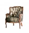 fauteuil bergère, fauteuil avec coussin, fauteuil classique, fauteuil style classique