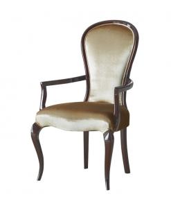 Chaise bout de table bois et tissu Silhouette