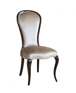 Chaise classique bois et tissu Silhouette