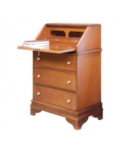 Meuble à abattant multifonction, meuble bureau secrétaire