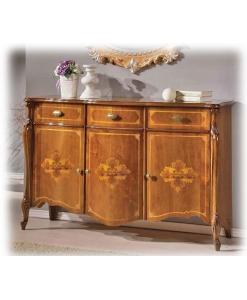 Meuble buffet style classique avec marqueterie, meuble buffet de style classique en bois, arteferretto