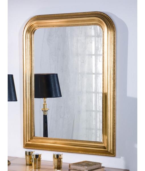 Miroir classique doré à la feuille, miroir, miroir or, miroir doré