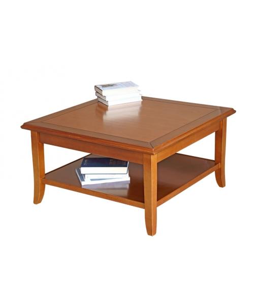 Table de salon carrée en bois 80x80