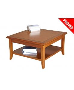 Table de salon carrée en bois 80x80 promotion