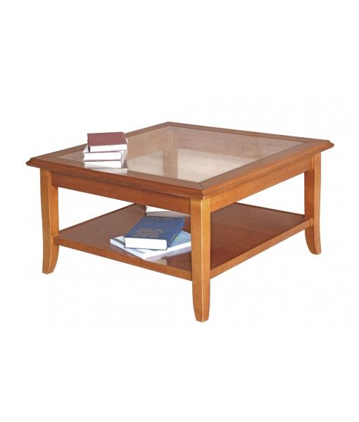 Table basse de salon dessus vitré réf. FM-01