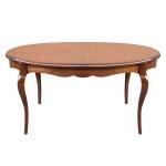 Table à manger ovale modelée extensible