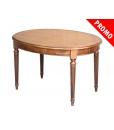 PROMO ! Table ovale Style Louis XVI 130 – 170 cm, table taille moyenne, table en promotion, achat table petit prix, table classique en bois avec une rallonge