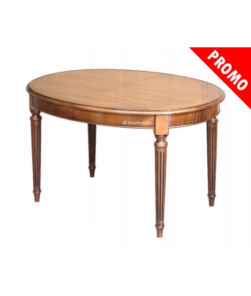 PROMO ! Table ovale Style Louis XVI 130 – 170 cm Réf. FV-39-1AL-promo