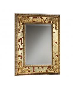 Miroir rectangulaire, miroir or, miroir feuille or, miroir style classique, mobilier classique