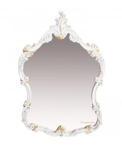 Miroir classique à fronton, miroir, miroir laqué, miroir feuille d'or, miroir sculpté