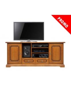 Promo meuble tv en bois 160 cm largeur
