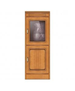 Meuble rangement 2 portes, meuble de ranegement en bois 2 portes style classique