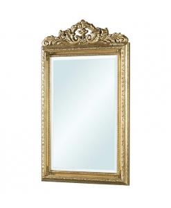Miroir à fronton, miroir feuille d'or, miroir grandes dimensions