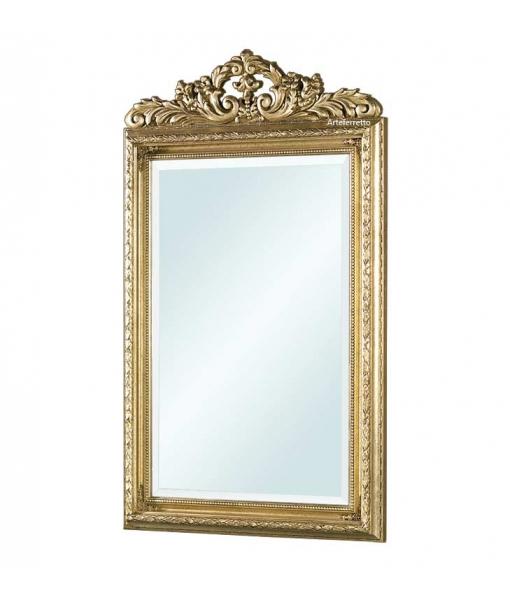 Miroir à fronton finition feuille d'or réf. F590