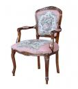 roméo et juliette, fauteuil, fauteuil tissu rose, fauteuil de style classique en bois, fabricant fauteuils, made in italy, arteferretto