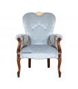 Fauteuil dossier large, fauteuil, fauteuil classique, fauteuil rembourré, fauteuil fabrication italienne, made in Italy, Arteferretto