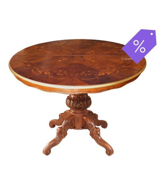 Table salle à manger ronde prolongeable réf. MIT-O