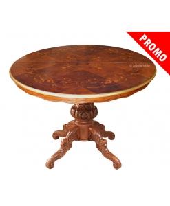 Table salle à manger ronde prolongeable