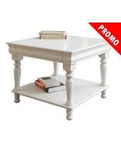 PROMO ! Table basse Louis Philippe - Blanc, Ivoire ou Noir réf. 395-AV