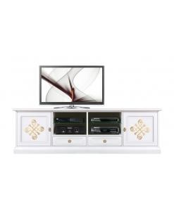 Meuble tv bas 2 mètres largeur Gold light