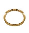 Miroir ovale en feuille d'or, miroir, miroir feuille d'or, miroir doré
