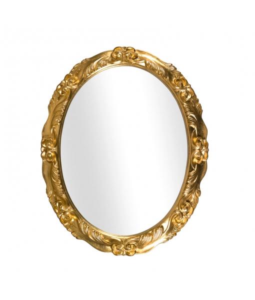 Miroir ovale en feuille d'or réf. DB-98