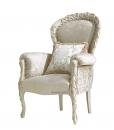 Fauteuil classique rembourré et sculpté, achat fauteuil style classique en bois, arteferretto