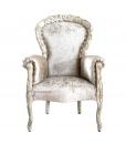 Fauteuil classique rembourré et sculpté, achat fauteuil classique en ligne, fabricant fauteuils et chaises, arteferretto, fabricant meubles italie