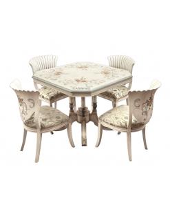Ensemble table et 4 chaises, meubles uniques, meubles haut de gamme, design italien