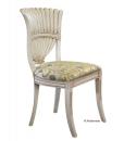 chaise salle à manger, chaise peine, chaise peinte à la main, chaise modèle unique