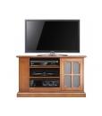meuble tv en bois avec porte vitrée, meuble tv taille moyenne, meuble tv pour salon