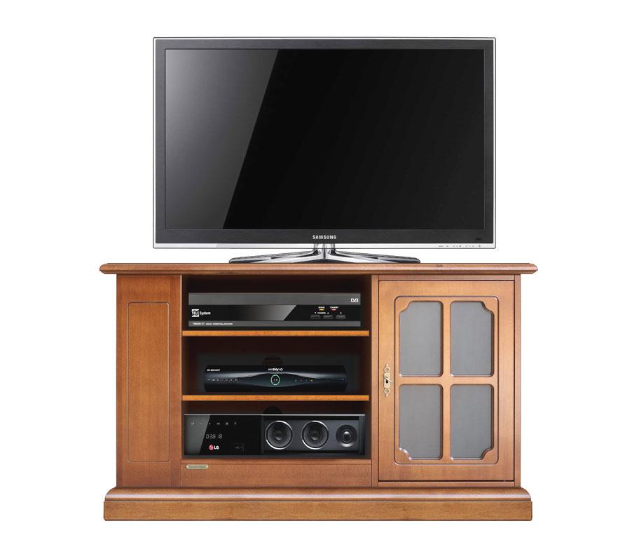 Meuble tv de style avec porte vitr e lamaisonplus - Meuble tv avec porte vitree ...