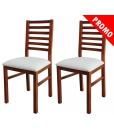 PROMO ! Lot de 2 chaises en hêtre massif réf. FR-222