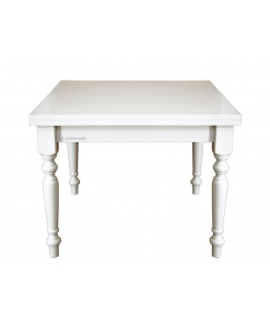 table carrée blanche, achat table salle à manger, table 100x100, table pliante, table blanche, table style shabby chic