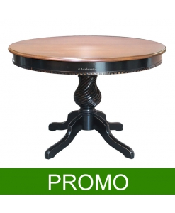 table ronde bicolore, table ronde extensible, table ronde 120 cm prolongeable