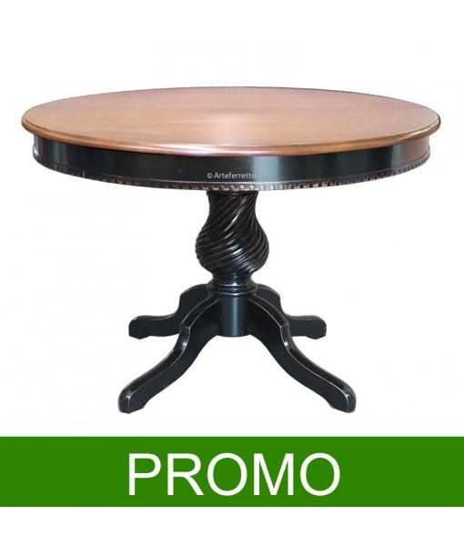 Table ronde bicolore extensible 120 cm réf. ER-1312_BIC-PROMO