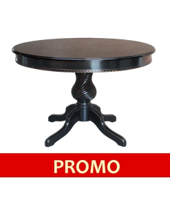 table ronde, table noire, table extensible, table ronde extensible, table ronde 120 cm