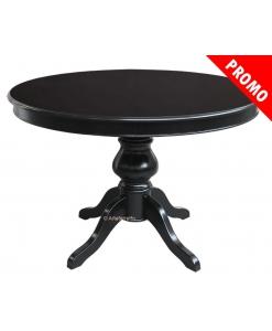 Table à manger ronde noire 120 cm diamètre promo