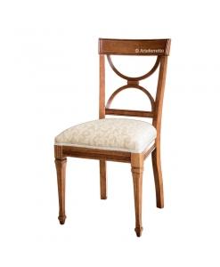 Chaise rembourrée, chaise de style classique, chaise en bois, chaise salon, chaise cuisine