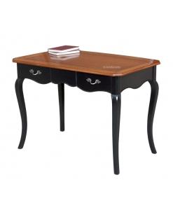 Bureau style classique bicolore noir et merisier