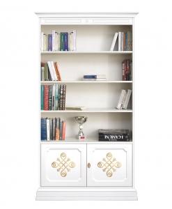 meuble bibliothèque, bibliothèque blanche, meuble rangement livres, meuble bibliothèque classique