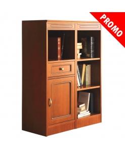 PROMO ! Meuble modulaire multifonction petite taille, meuble bibliothèque basse, bibliothèque petites dimensions