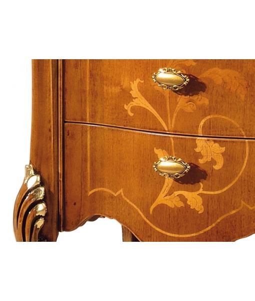 Meuble vitrine petite taille, marqueterie, meuble en bois marqueté