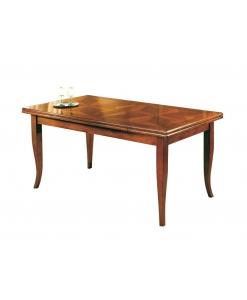 Table salle à manger marquetée, table salle à manger, table rectangulaire, table en bois grandes dimensions, table classique