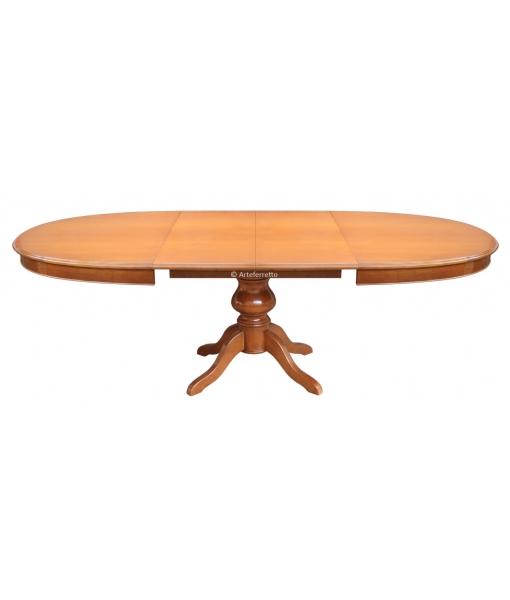 Table à manger ovale avec allonges installées réf. 447