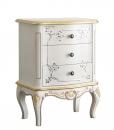 Table de chevet décorée White Gold