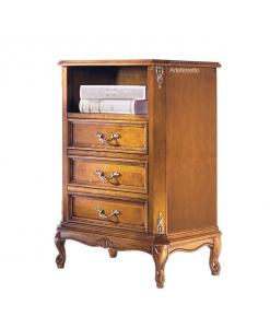 Meuble chiffonnier porte téléphone avec niche, meuble téléphone, meuble chiffonnier 3 tiroirs