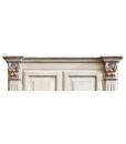armoire grande taille, armoire grandes dimensions, armoire deux portes, armoire couleur vieilli, armoire finition romantique