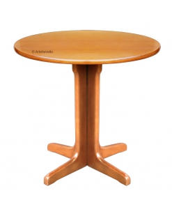 Table ronde 80 cm en hêtre massif, table ronde petite taille, table ronde petite dimension, table ronde 80 cm