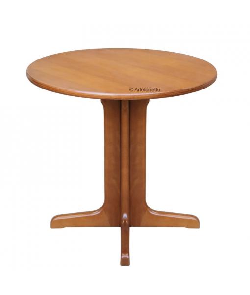 Table ronde 80 cm en hêtre massif, table ronde pied central, table ronde style classique